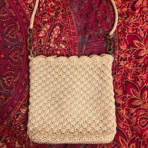 The Sak cream crochet purse